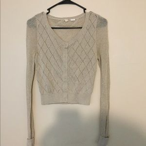 Sparkle knit cardigan sweater